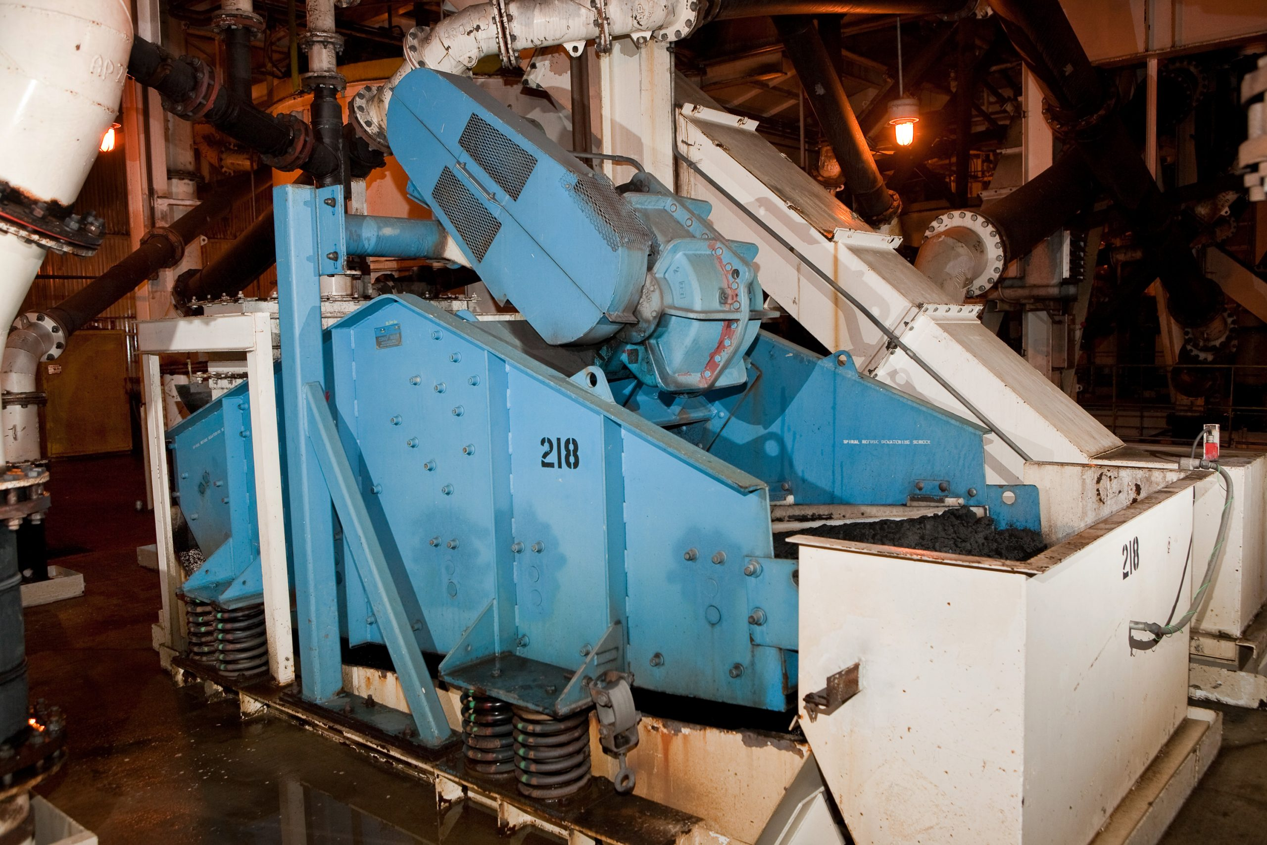 Dewatering Screen in plant structure