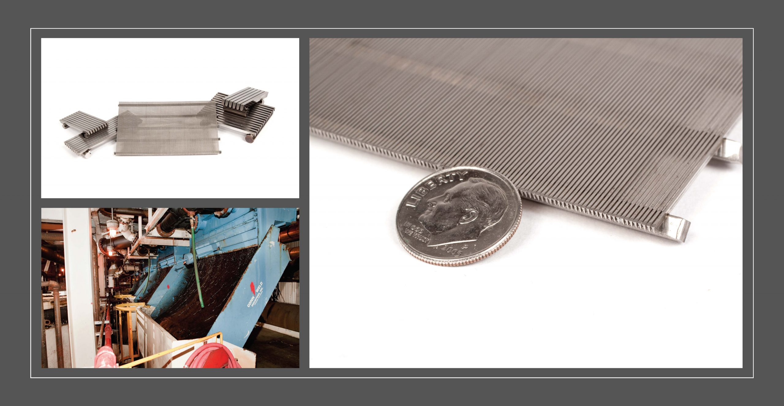 Profile wire screen panel samples, profile wire sieve in coal application